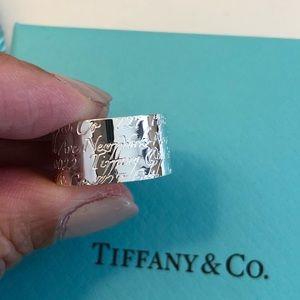 4b1fea315 Tiffany & Co. Jewelry | Nib Tiffany Co Notes Wide Band Ring Size 5 ...